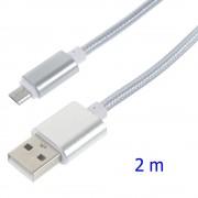 Usb micro kabel 2 meter Mobiltelefon tilbehør