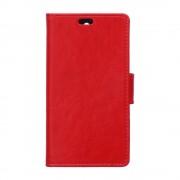 HTC DESIRE 530 læder cover med lommer rød, Mobiltelefon tilbehør