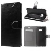HTC 10 læder cover med kort lomme sort