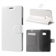 HTC 10 læder cover med kort lomme hvid
