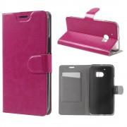 HTC 10 læder cover med kort lomme rosa