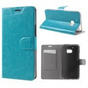 HTC 10 læder cover med kort lomme blå