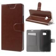HTC 10 læder cover med kort lomme brun