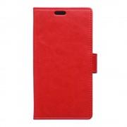 HTC DESIRE 530 læder cover med kort lommer rød, Mobiltelefon tilbehør