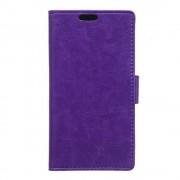 HTC DESIRE 530 læder cover med kort lommer lilla, Mobiltelefon tilbehør