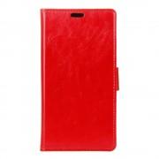 HTC 10 læder cover med kort lommer rød, Mobiltelefon tilbehør