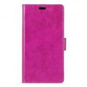 HTC 10 læder cover med kort lommer lilla, Mobiltelefon tilbehør