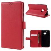 HTC 10 læder pung cover rød, Mobiltelefon tilbehør