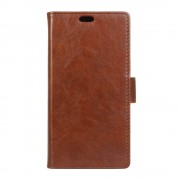 HTC 10 læder cover med lommer brun, Mobiltelefon tilbehør