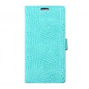HTC 10 alligator læder cover cyan, Mobiltelefon tilbehør