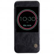 HTC 10 business læder cover - etui med vindue sort, Mobiltelefon tilbehør