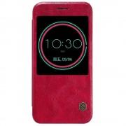 HTC 10 business læder cover med vindue rød, Mobiltelefon tilbehør