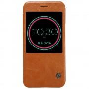 HTC 10 business læder cover med vindue brun, Mobiltelefon tilbehør