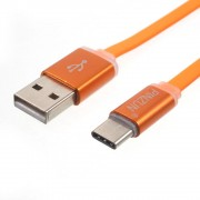 C type usb kabel alu orange Mobiltelefon tilbehør