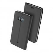 Htc U11 slim cover med kort lomme mørkegrå Mobilcover