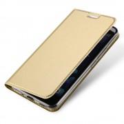 Htc U11 slim cover med kort lomme guld Mobilcover