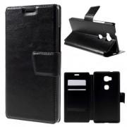Til HUAWEI HONOR 5X læder cover med kort lommer, sort Mobiltelefon tilbehør
