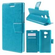 HUAWEI HONOR 5X læder cover med kort lommer, blå Mobiltelefon tilbehør
