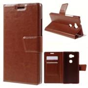Til HUAWEI HONOR 5X læder cover med kort lommer, brun Mobiltelefon tilbehør