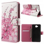 Huawei Y6 pro - Enjoy 5 cover m mønster Plum Blossom Mobiltelefon tilbehør
