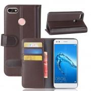 Huawei P9 lite mini cover split læder brun Mobilcovers