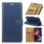 Huawei Mate 10 flip cover blå Mobilcovers
