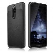 Tpu læder cover Huawei mate 10 lite sort Mobil tilbehør