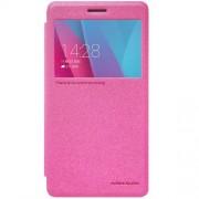 HUAWEI HONOR 5X læder cover med vindue, rosa Mobiltelefon tilbehør
