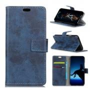 Huawei Mate 10 lite cover i retro stil blå Mobilcovers