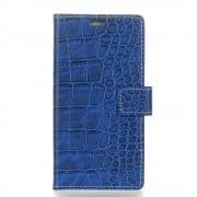 Huawei mate 10 lite cover croco blå Mobilcovers