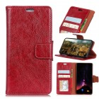 Huawei Mate 10 klassisk læder cover rød Mobilcovers
