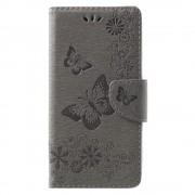 Flipcover med mønster grå Huawei Mate 10 lite Mobil tilbehør