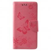 Flipcover med mønster pink Huawei Mate 10 lite Mobil tilbehør