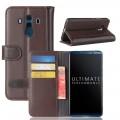 Huawei Mate 10 pro flipcover i split læder brun
