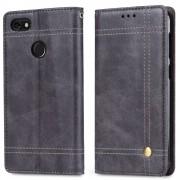 Retro læder cover grå Huawei p9 lite mini Mobilcovers