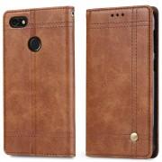 Retro læder cover brun Huawei p9 lite mini Mobilcovers