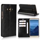 Flip cover ægte læder sort Huawei Mate 10 Mobilcovers