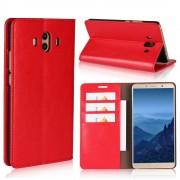 Flip cover ægte læder rød Huawei Mate 10 Mobilcovers