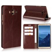 Flip cover ægte læder mørkebrun Huawei Mate 10 Mobilcovers
