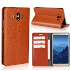 Flip cover ægte læder brun Huawei Mate 10 Mobilcovers