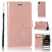 Flip cover med lommer rosaguld Huawei Y6 2 Mobil tilbehør