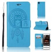 Flip cover med lommer blå Huawei Y6 2 Mobil tilbehør