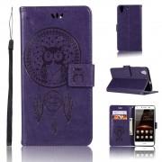 Flip cover med lommer lilla Huawei Y6 2 Mobil tilbehør