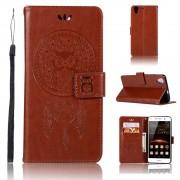 Flip cover med lommer brun Huawei Y6 2 Mobil tilbehør
