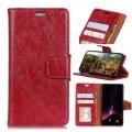 Klassisk læder cover Huawei P smart rød