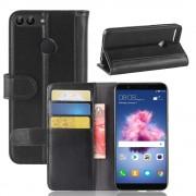 Flip cover i split læder sort Huawei P smart Mobilcovers