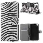 HUAWEI Y6 mønstret læder pung cover zebra, Mobiltelefon tilbehør