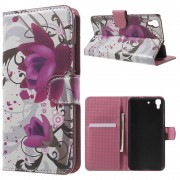 HUAWEI Y6 mønstret læder pung cover Kapok Flower, Mobiltelefon tilbehør