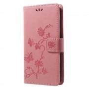 Huawei P smart cover med mønster pink Mobil tilbehør