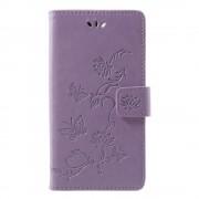 Huawei P smart cover med mønster lilla Mobil tilbehør